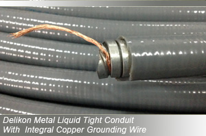 Delikon Steel Liquid Tight Conduit With Intergral Copper Grounding Wire for industry control wiring