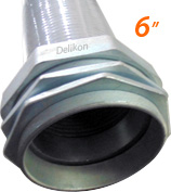 Delikon 6 inches liquid tight conduit and connector
