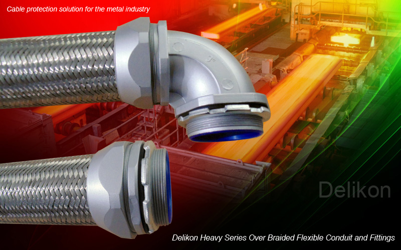 Delikon Electrical Flexible Conduit and Fittings for Secure, Efficient and Clearly Laid Out System Cabling