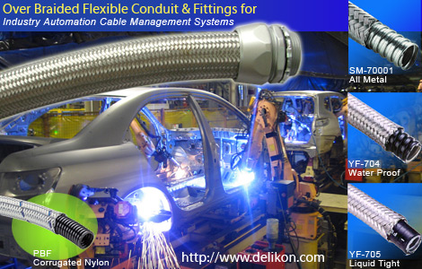 DELIKON TOP flexible conduit and conduit fittings systems for industry automation